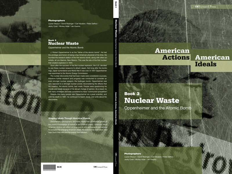 Book cover design for American Actions, American Ideals by Airstrike Quintet