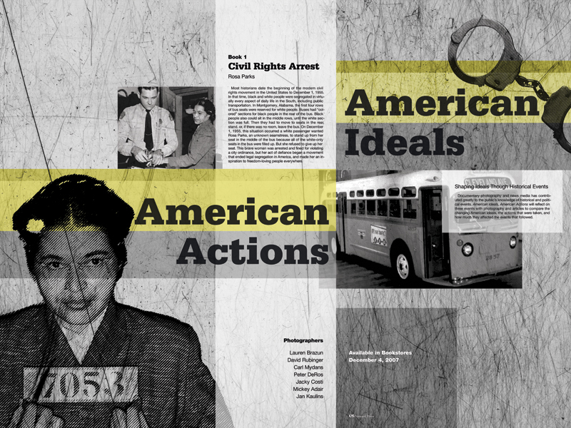 Poster design for American Actions, American Ideals by Airstrike Quintet