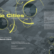Poster design for Invisible Cities by Airstrike Quintet