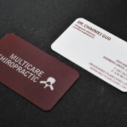 Business card design for Multicare Chiropractic by Airstrike Quintet