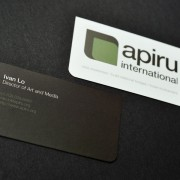 Business card design for Apiru International by Airstrike Quintet