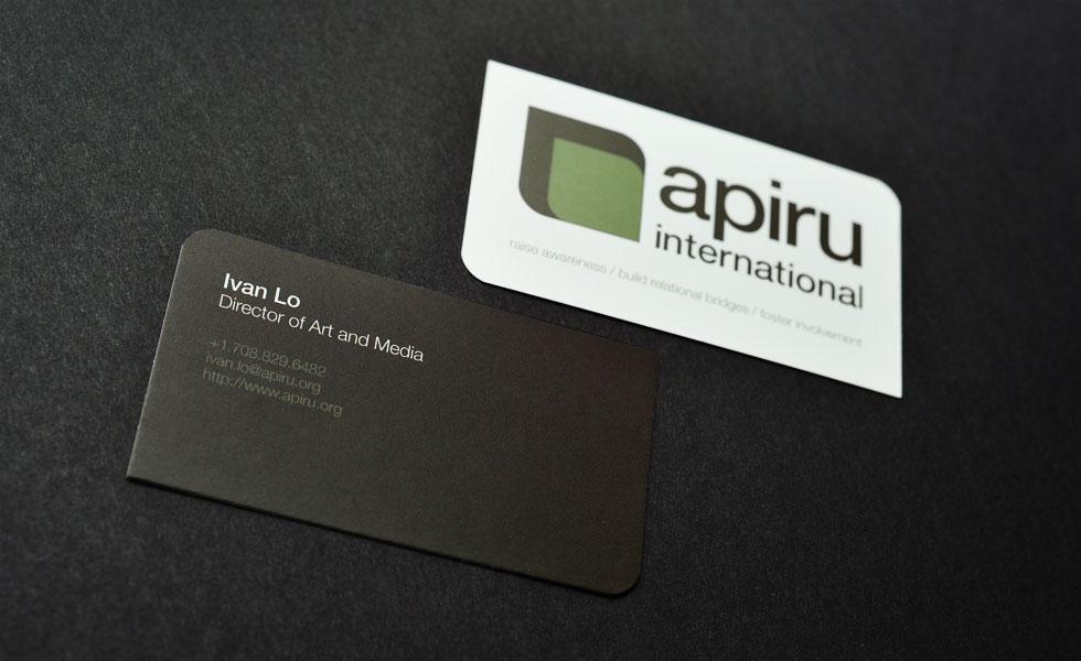 Apiru International Business card design for Apiru International ...