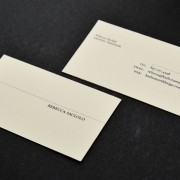 Business card designs for Rebecca Saclolo by Airstrike Quintet