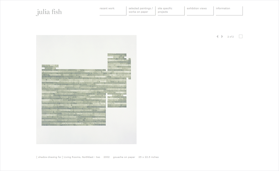 Website Conversion and Reformat for Julia Fish by Airstrike Quintet