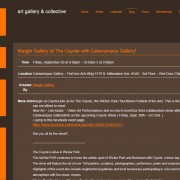 Website design and development for Margin Gallery by Airstrike Quintet