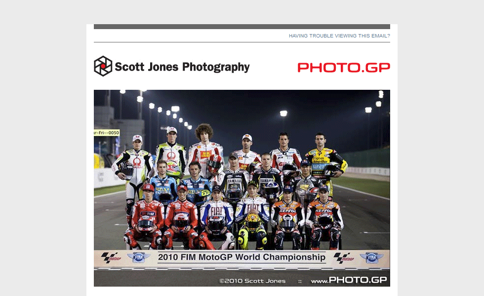 HTML Email Template Design for Scott Jones Photography by Airstrike Quintet